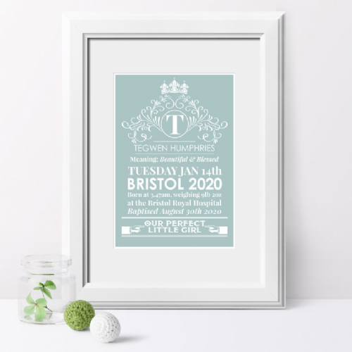 Personalised Name Meaning HERITAGE Print